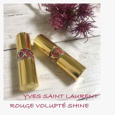 SAORI💜さんの「YVES SAINT LAURENT BEAUTEルージュ ヴォリュプテ シャイン<口紅>」を含むクチコミ