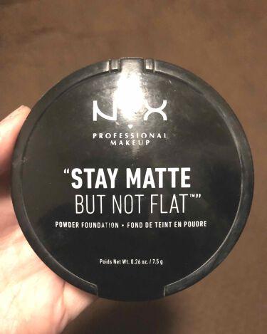 ステイマット ノットフラット パウダーファンデーション/NYX Professional Makeup/パウダーファンデーションを使ったクチコミ(1枚目)
