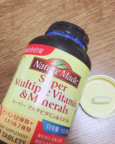 スーパーマルチビタミン&ミネラル/ネイチャーメイド/健康サプリメントを使ったクチコミ(1枚目)