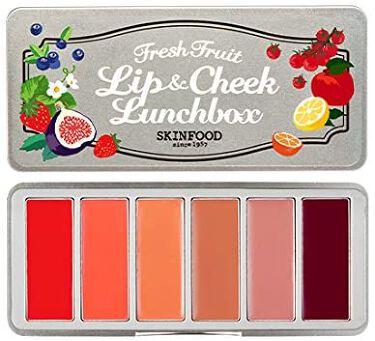 フレッシュフルーツ リップ&チークランチボックス(6色) SKINFOOD
