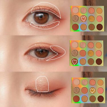 Eye Palette-Sweet Talk/ColourPop/パウダーアイシャドウを使ったクチコミ(4枚目)