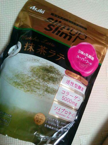 酵素+スーパーフードシェイク 抹茶ラテ/スリムアップスリム/ドリンクを使ったクチコミ(1枚目)