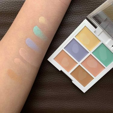 Color Correcting Palette/NYX Professional Makeup/コンシーラーを使ったクチコミ(3枚目)