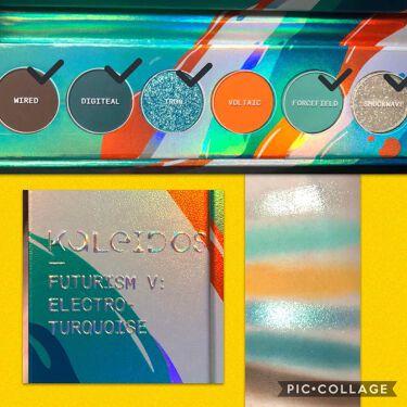 Futurism V: Electro-Turquoise/Kaleidos Makeup/パウダーアイシャドウを使ったクチコミ(2枚目)
