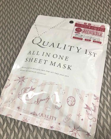 オールインワンシートマスク 超時短スキンケアシート 携帯用/クオリティファースト/シートマスク・パックを使ったクチコミ(1枚目)