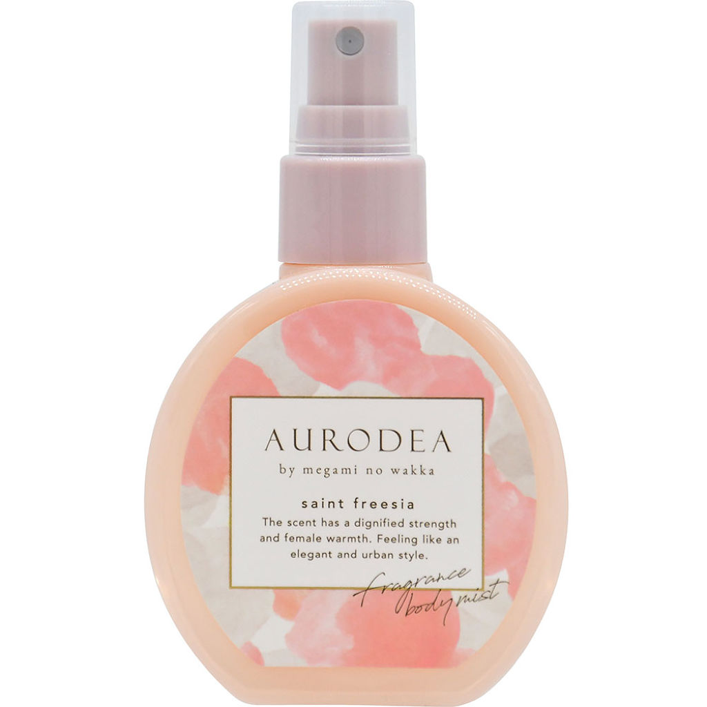 AURODEA by megami no wakka fragrance body mist saint freesia