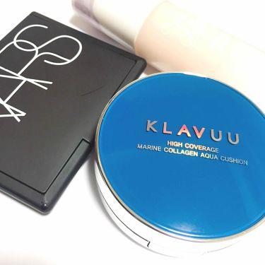 KLAVUU ブルーパールマリン コラーゲンアクアクッション/その他/リキッドファンデーションを使ったクチコミ(3枚目)