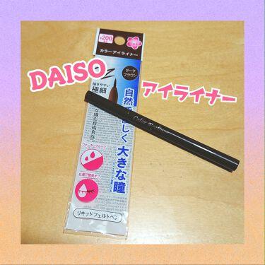 カラーアイライナーD/DAISO/リキッドアイライナーを使ったクチコミ(1枚目)