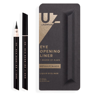 UZU EYE OPENING LINER 7 SHADES OF BLACK METALLIC-BLACK
