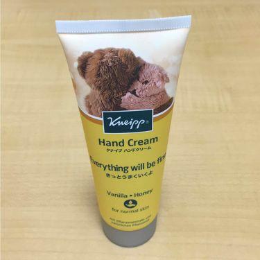 ハンドクリーム バニラ&ハニーの香り/クナイプ/ハンドクリーム・ケアを使ったクチコミ(1枚目)