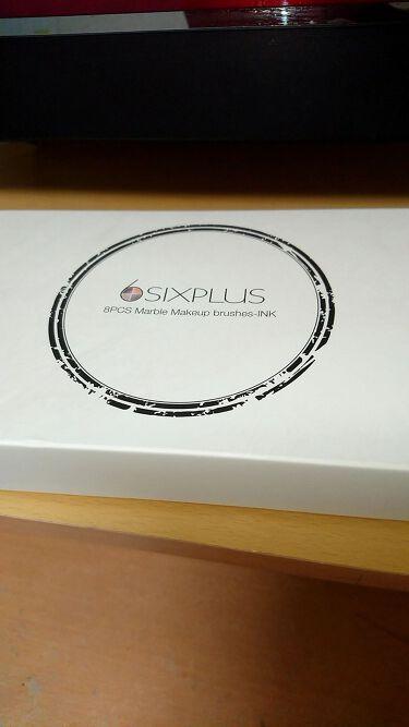 SIXPLUS 大理石柄のメイクブラシ8本セット/SIXPLUS/メイクブラシを使ったクチコミ(4枚目)