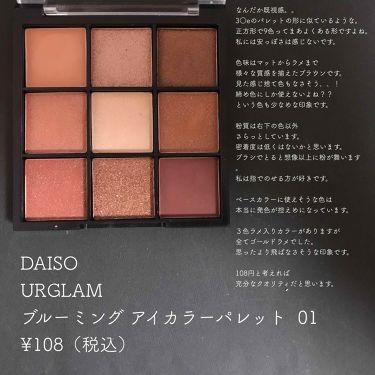 UR GLAM ブルーミングアイカラーパレット/DAISO/パウダーアイシャドウを使ったクチコミ(2枚目)