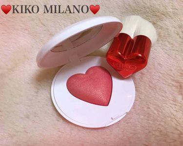 みいや🧸💞 on LIPS 「KIKOMILANOのハート型チーク♥️友達からイタリアのお土..」(1枚目)