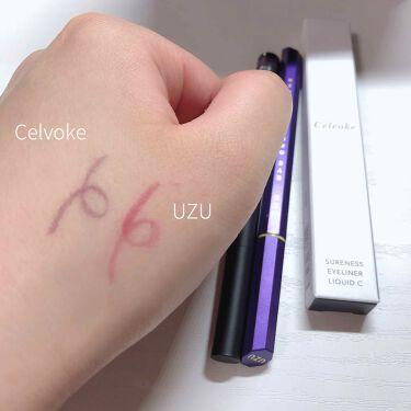 シュアネス アイライナーリキッド C/Celvoke/リキッドアイライナーを使ったクチコミ(2枚目)
