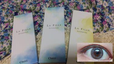 LA FILLE (ラ・フィーユ)/LA FILLE/カラーコンタクトレンズを使ったクチコミ(2枚目)