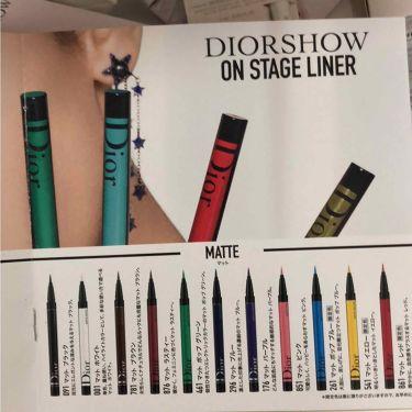 Dior ディオールショウ オンステージ ライナー
