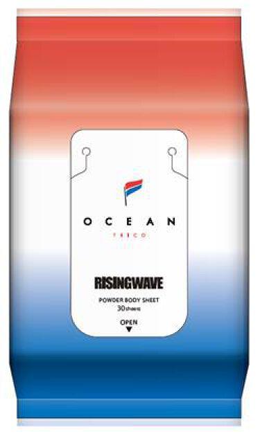 2021/5/1発売 OCEAN TRICO パウダーボディシート ライトブルー