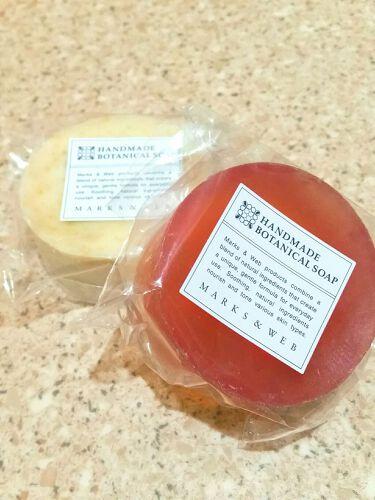 ハンドメイドボタニカルソープ サクラ/菜種/MARKS&WEB/洗顔石鹸を使ったクチコミ(1枚目)
