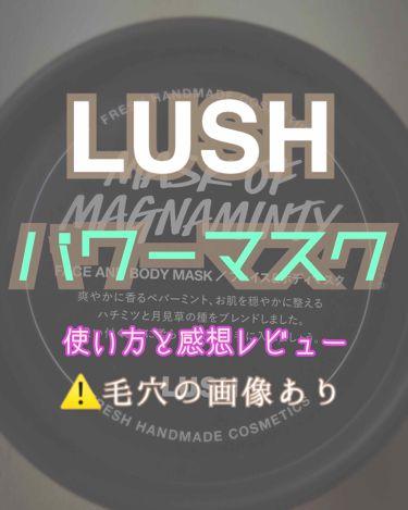 パワーマスク SP/ラッシュ/ボディスクラブを使ったクチコミ(1枚目)
