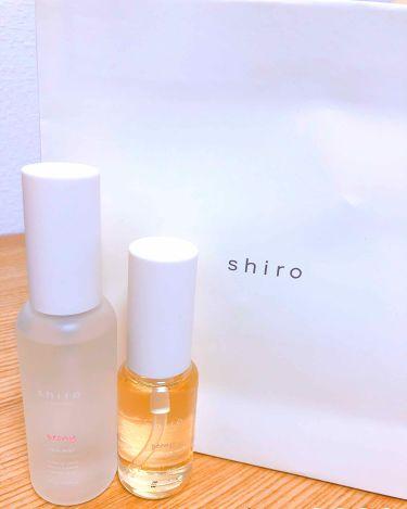 【画像付きクチコミ】まず香りがとってもいい!香水はshiroのサボンを使っています(これもめっちゃいい匂いなんです)が、、たまには違うのもいいかなと思って購入したものです。2個セットで5000円+税だから安くはないかなぁ🤔🤔だけどヘアオイルはベタつかずさ...