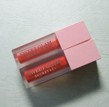 Sweet glam velvet tint/SECRET KEY/口紅を使ったクチコミ(1枚目)