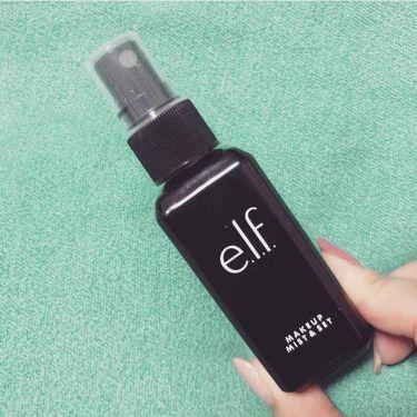 【画像付きクチコミ】本日の#使い切りコスメ#elfのメイクアップミスト&セット#iherb購入品フィックスミスト的なやつ。まぁ。数分で消えますが匂いが兎に角キライである。スプレー部分もイマイチ。リピはなし。#コスメマニア#コスメオタク#美容マニア#美容オ...
