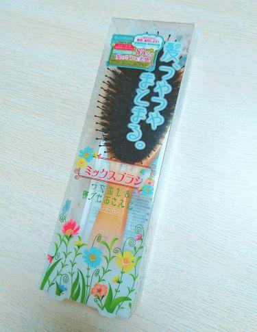 つやつや天然毛のミックスブラシ/マペペ/ヘアケアグッズを使ったクチコミ(1枚目)