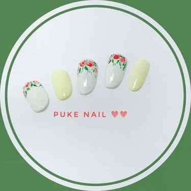 赤薔薇❤︎うすい黄色 ネイルチップ/PUKE NAIL/つけ爪・ネイルチップを使ったクチコミ(3枚目)