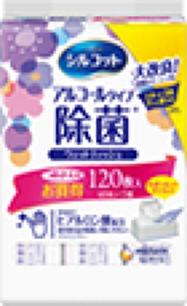 除菌ウェットティッシュ アルコールタイプ つめかえ用40枚×3パック:120枚