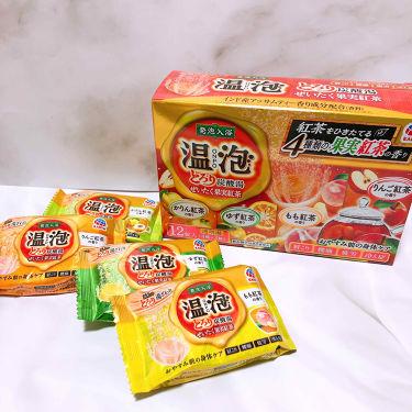 温泡 とろり炭酸湯 ぜいたく果実紅茶/入浴剤を使ったクチコミ(1枚目)