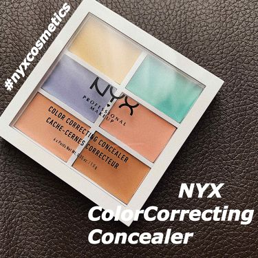 Color Correcting Palette/NYX Professional Makeup/コンシーラーを使ったクチコミ(1枚目)