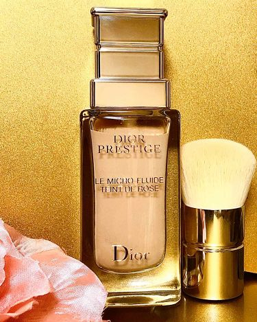プレステージ ル フルイド タン ドゥ ローズ/Dior/ファンデーションを使ったクチコミ(1枚目)