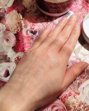プロバンシア フレグランスボディクリーム アーモンドの香り/ペリカン石鹸/ボディクリームを使ったクチコミ(3枚目)