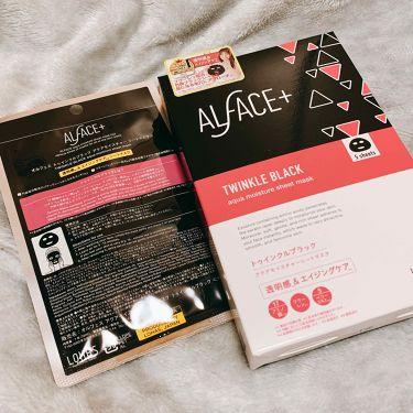 トゥインクルブラック アクアモイスチャーシートマスク/ALFACE+(オルフェス)/シートマスク・パックを使ったクチコミ(1枚目)