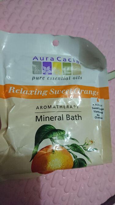 アロマテラピーミネラルバス/Aura Cacia/入浴剤を使ったクチコミ(1枚目)