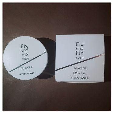 フィックス&フィックス パウダーフィクサー/ETUDE HOUSE/ルースパウダーを使ったクチコミ(1枚目)