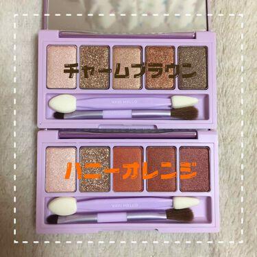 シャイニーアイパレットハニーオレンジ/VAVI MELLO/パウダーアイシャドウを使ったクチコミ(2枚目)
