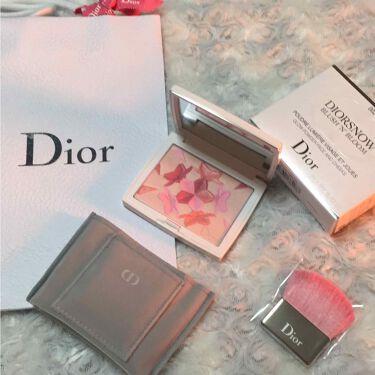スノー ブラッシュ&ブルーム パウダー/Dior/パウダーチークを使ったクチコミ(2枚目)