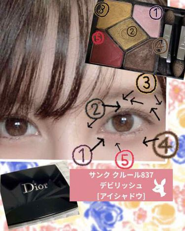 サンク クルール <ディオール アン ディアブル> ニュールック フォール 2018 (限定品)/Dior/パウダーアイシャドウを使ったクチコミ(1枚目)