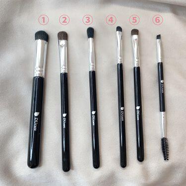 6 Pieaces Eye Makeup Brush Set/DUcare/メイクブラシを使ったクチコミ(2枚目)