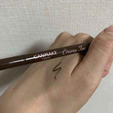 クリーミータッチライナー/CANMAKE/ジェルアイライナーを使ったクチコミ(1枚目)
