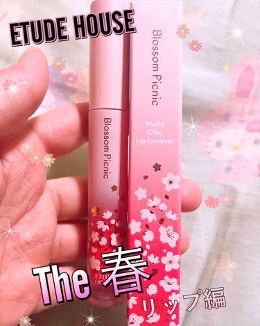 ピクニック マットシックリップラッカー/ETUDE HOUSE/口紅を使ったクチコミ(1枚目)