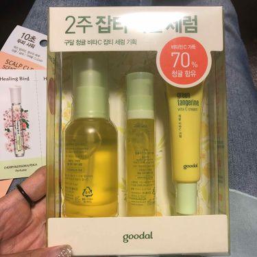 hizukiさんの「CLIOグーダルグリーンタンジェリンビタCダークスポットセラム<美容液>」を含むクチコミ