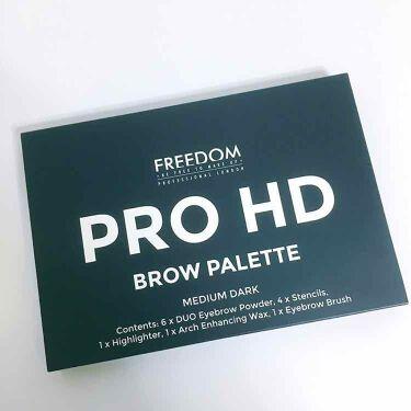 Pro HD Brow Palette/Freedom/パウダーアイシャドウを使ったクチコミ(2枚目)