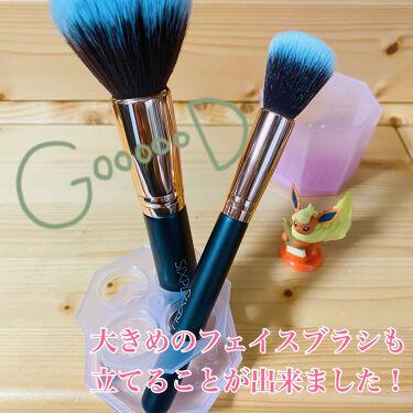 メイクブラシクリーナー/DAISO/その他化粧小物を使ったクチコミ(3枚目)