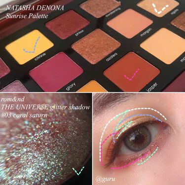 NATASHA DENONA Sunrise Palette/Natasha Denona/パウダーアイシャドウを使ったクチコミ(3枚目)