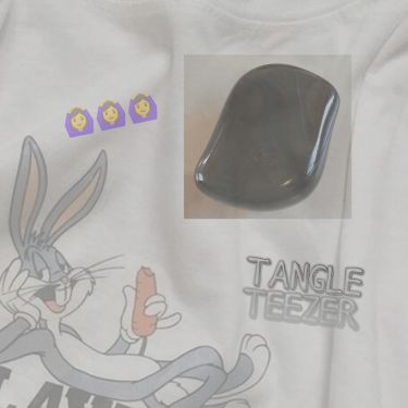 コンパクトスタイラー/TANGLE TEEZER/ヘアケアグッズを使ったクチコミ(1枚目)