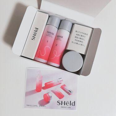 SHeld プロテクト 洗顔&化粧水&ジェルクリーム トライアルセット/MOMOTANI/トライアルキットを使ったクチコミ(2枚目)