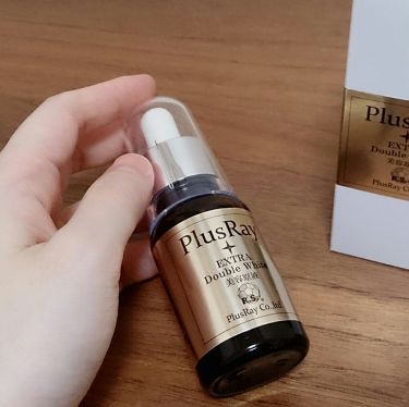 chikapocket_reviewさんの「PlusRay(プラスレイ)エクストラダブルホワイト美容原液<美容液>」を含むクチコミ