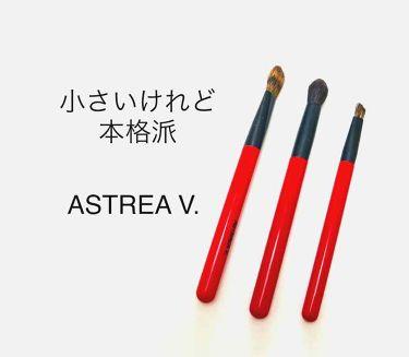 熊野筆 化粧筆 アイシャドウ用(丸型・馬毛)/アストレア ヴィルゴ/メイクブラシを使ったクチコミ(1枚目)